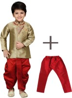AJ Dezines Boys Festive & Party Kurta and Dhoti Pant Set(Brown Pack of 1)