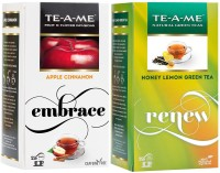 TE-A-ME Honey Lemon Green Tea & Cinnamon Tea Combo Honey, Lemon, Apple, Cinnamon Green Tea Bags(50 Bags, Box)