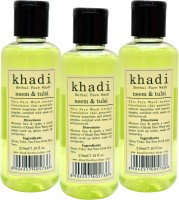 Khadi Herbal Neem Tulsi [ pack of 3] Face Wash(630 ml)