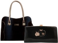 Louise Belgium Hand-held Bag(Black)