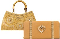 Louise Belgium Hand-held Bag(Gold)