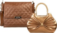 Louise Belgium Hand-held Bag(Brown)