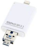 Oxza 3 in 1 I Flash Drive For Lightning With USB Function 64 GB Pen Drive(White)
