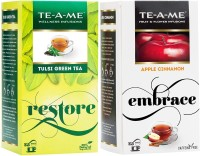 TE-A-ME Tulsi Green Tea & Apple Cinnamon Tea Combo Tulsi, Apple, Cinnamon Green Tea Bags(50 Bags, Box)