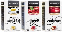 TE-A-ME Chamomile Infusion Tea & Cranberry Apple Fruit and Flower Herbal Tea Infusion & Apple Cinnamon Infusion Tea Combo Chamomile, Cranberry, Apple, Cinnamon Green Tea Bags(75 Bags, Box)