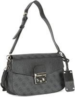 Guess Women Black PU Sling Bag