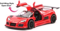 Kinsmart 5'' 1:36 Scale Gull-wing Style Openable Doors 2010 Gumpert Apollo Sport Car Toys for Kids from Smiles Creation(Red)