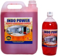INDOPOWER ADVANCE FLOOR SHAMPOO COMBO OFFER 5 ltr+ 1 ltr. ROSE(6 L, Pack of 2)