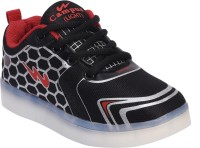 Campus Boys Lace Walking Shoes(Black)