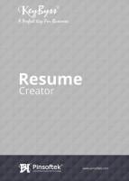 Pinsoftek KeyByss®- The Easiest Resume Printing Software 2user