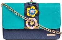Chumbak Women Blue, Green PU Sling Bag