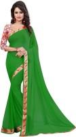 TODAY ENTERPRISE Solid Bollywood Jacquard Saree(Green)