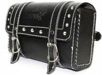 Mockhe One-side Black Leatherette Motorbike Saddlebag(3 L)