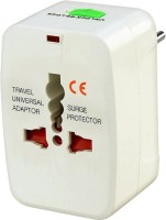 View Technuv Worldwide Travel Adapter Worldwide Adaptor(White) Laptop Accessories Price Online(Technuv)