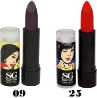 Amura Smart Girl LipStick Set of 2 (09,25)(4.5 g, 09,25) - Price 129 35 % Off