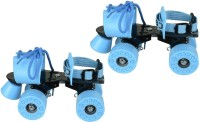 Cosco Zoomer Quad Roller Skates - Size Suitable for 10 years & above Quad Roller Skates - Size Shoe size from 25.3 cms to 29.3 cms 6 - 12(Blue)