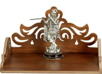 7CR WB Temple Wooden Wall Shelf(Number of Shelves - 1, Brown)