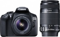 Canon EOS 1300D DSLR Camera Body with Dual Lens: EF-S 18-55 mm IS II + EF-S 55-250 mm F4 5.6 IS II (16 GB SD Card + Camera Bag)(Black)