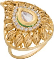 Luxor Fancy Alloy Diamond Yellow Gold Plated Ring