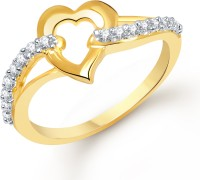Divastri Valentine Alloy Cubic Zirconia 18K Yellow Gold Plated Ring