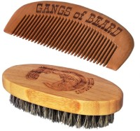 Gangs of Beard Boar Bristle Brush and Bamboo Comb(Set of 2)