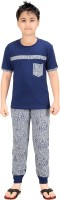 Red Ring Kids Nightwear Boys Graphic Print Cotton(Multicolor Pack of 1)