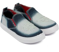 Asian Boys Slip on Sneakers(Blue)