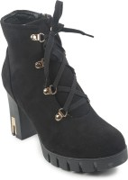 Lovely Chick Black Boots Boots(Black)
