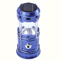 View Aladdin Shoppers 6+1 LED Light Rechargeable Solar Camping Lantern LED Torch Flashlight with Dual Power Recharger Solar & AC Electricity 220v Portatable Hand Lamp with Hooks with Indicator USB Output for Mobile Charging Solar Charging Lights   Emergency Lights(Blue) Home Appliances Price Online(Aladdin Shoppers)