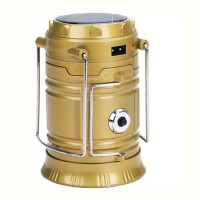 View Aladdin Shoppers 6+1 LED Light Rechargeable Solar Camping Lantern LED Torch Flashlight with Dual Power Recharger Solar & AC Electricity 220v Portatable Hand Lamp with Hooks with Indicator USB Output for Mobile Charging Solar Charging Lights   Emergency Lights(Gold) Home Appliances Price Online(Aladdin Shoppers)