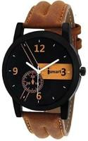 Ismart Men and Boy Analog Wrist Watch Brown Smartwatch(Brown Strap 3.5)