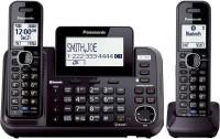 View Panasonic KX-TG9542B Cordless Landline Phone with Answering Machine(Black) Home Appliances Price Online(Panasonic)