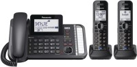 View Panasonic KX-TG9582B Corded & Cordless Landline Phone with Answering Machine(Black) Home Appliances Price Online(Panasonic)