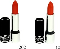 Amura Black Beauty Lip Colour Set of 2(4.5 g, 202,12) - Price 139 53 % Off