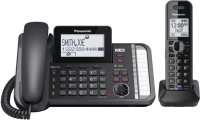 View Panasonic KX-TG9581B Corded & Cordless Landline Phone with Answering Machine(Black) Home Appliances Price Online(Panasonic)