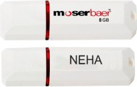 Moserbaer USB Drives 8GB Knight 8 GB Pen Drive(Red, White)