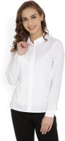 United Colors of Benetton Women's Solid Casual White Shirt