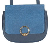 ADAMIS Women Blue Genuine Leather Sling Bag