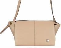 ADAMIS Women Beige Genuine Leather Sling Bag