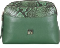 ADAMIS Women Green Genuine Leather Sling Bag