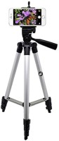 Smiledrive 105 Cm Long Stand - Super Light Tripod Kit(Black, Silver, Supports Up to 1000 g)