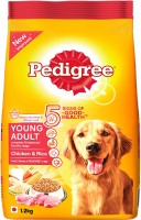 Pedigree Young Adult Rice, Chicken 1.2 kg Dry Dog Food