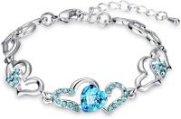 Oviya Alloy Crystal Rhodium Bracelet
