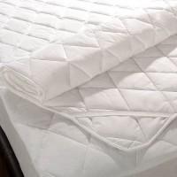 Viktoria Home's Elastic Strap King Size Mattress Protector(White)
