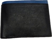 leather home Boys Black Genuine Leather Wallet(6 Card Slots)