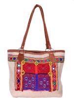 IndiWeaves Multipurpose Bag(Multicolor, 13 inch)