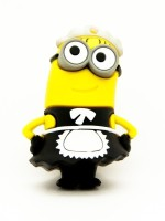 View Microware Cartoon Maid Shape 16 GB Pen Drive(Black, Yellow) Price Online(Microware)
