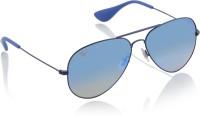 Ray-Ban Aviator Sunglasses(Blue) Flipkart Rs. 5186.00