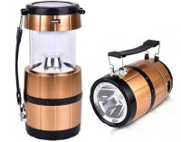 View DOCOSS Camping Barrel 2 in 1- Solar Rechargeable Led Torch Lights Portable + Lamp Lantern-A5 Emergency Lights(Gold) Home Appliances Price Online(DOCOSS)