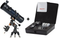 CELESTRON 130 EQ Reflector + AstroMaster Accessory Kit Reflecting Telescope(Manual Tracking)